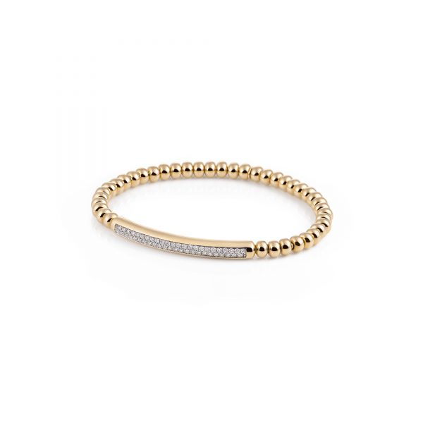 Al Coro Stretchy geelgouden armband