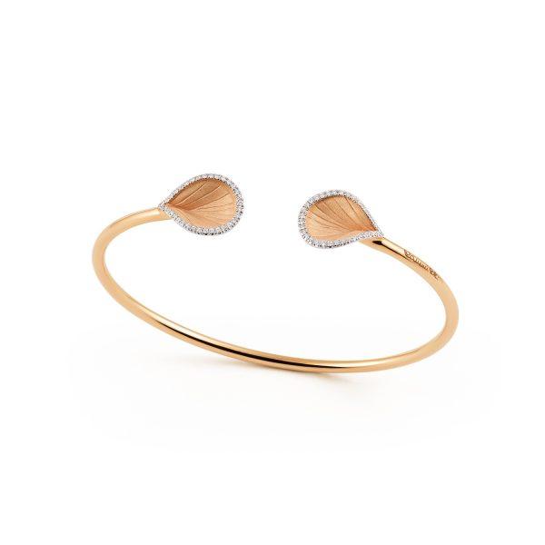 Annamaria Cammilli Goccia oranje gouden armband