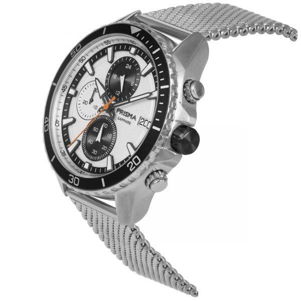 Prisma Chronograph stalen herenhorloge
