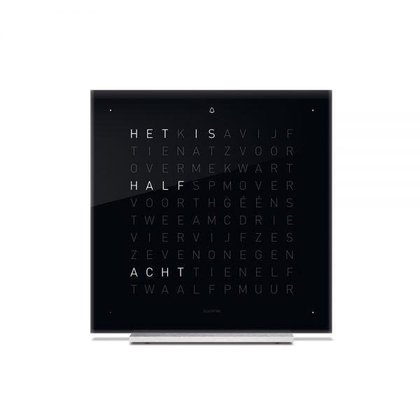 Qlocktwo Touch Black Ice Tea tafelklok