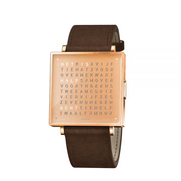 Qlocktwo W35 Copper horloge