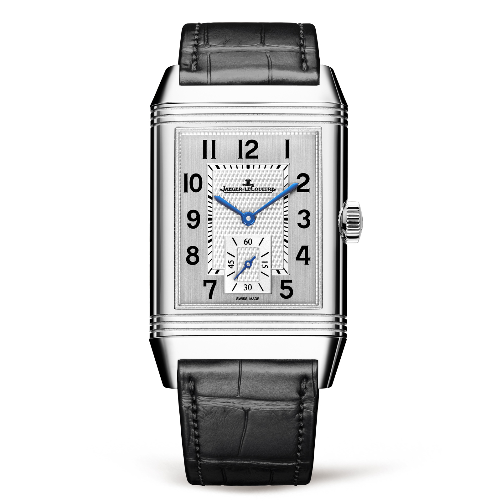 Jaeger-LeCoultre Reverso Classic Large Duetto stalen herenhorloge