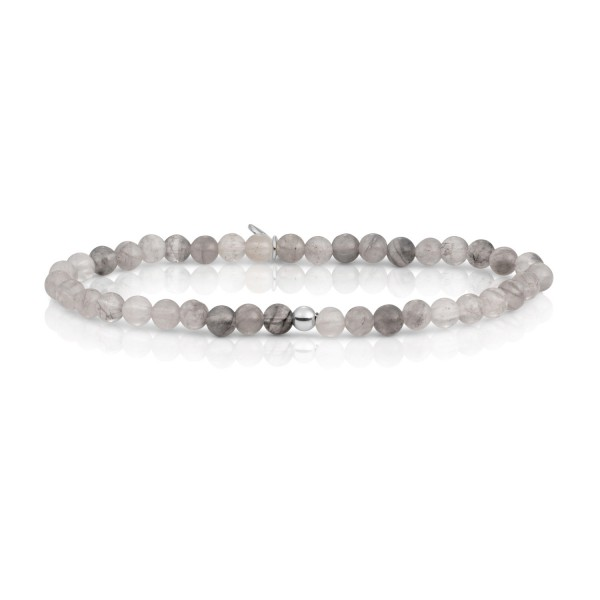 Sparkling Jewels Saturn zilveren armband met Kwarts
